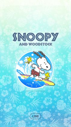 Bring a cool blue Hawaiian twist to your LINE with this surfing beagle. Updates supported for 180 days after sales end. Peanuts Cartoon, Peanuts Snoopy, Cartoon Wall, Cartoon Tv, Woodstock Snoopy, Snoopy Family, Animated Cartoon Characters, Snoopy Wallpaper, Lines Wallpaper