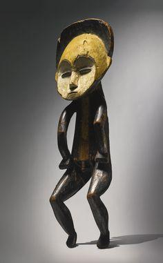 Mbole Male Ancestor Figure, Democratic Republic of the Congo Height: 21 1/2 in (54.5 cm) READ note