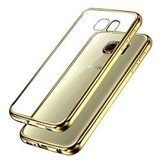 Samsung Galaxy S7 Bumper Case  Ubegood Ultra-thin [drop Protection]shock Resistant [metal Electroplating Technology] Soft Gel Tpu Bumper Case For Samsung Galaxy S7 Case Cover - Gold