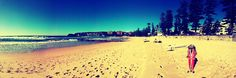 winters morning on Manly Beach in Sydney Australia...