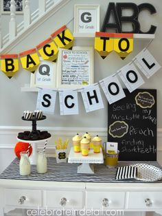 back to school party www.celebrateindetail.com
