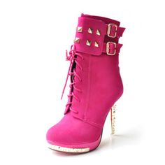 Suede Upper Stiletto Heel Ankle Boots With Sequin Party/ Evening Shoes More Colors Pink Ankle Boots, High Heel Boots, Shoe Boots, High Heels, Ugg Boots, Women's Shoes, Cute Shoes, Me Too Shoes, Edgy Shoes