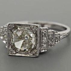 vintage diamond engagement ring. gorgeous!
