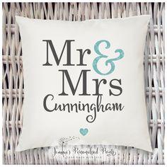 Jemma's Personalised Prints - Personalised Simple Wedding Cushion - http://www.facebook.com/jemmaspersonalisedprints