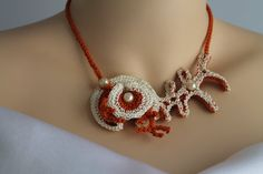 Hey, I found this really awesome Etsy listing at https://www.etsy.com/ru/listing/123308812/corals-freeform-crochet-necklace