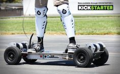 Electric powered skateboard takes on a Corvette C5: Pledge at least $15,000 by 4th September 2012
