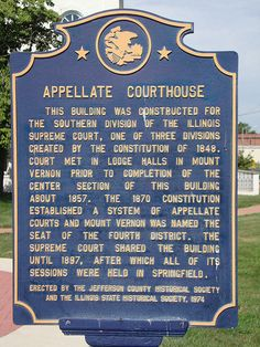 Appellate Courthouse Marker (Mount Vernon, Illinois)