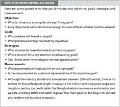 Objectives for a business plan