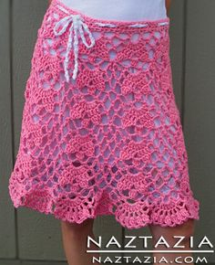 Crochet Lace Skirt - this would be nice as a beach cover-up I think