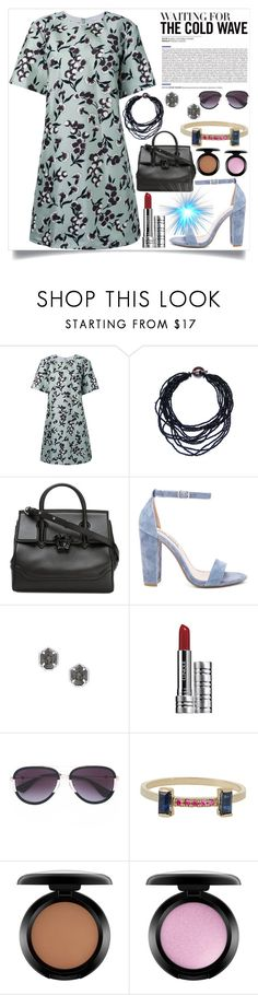 """""""Waiting for the cold wave"""" by camry-brynn ❤ liked on Polyvore featuring Marni, Versace, Steve Madden, Kendra Scott, Clinique, Gucci, Loren Stewart and MAC Cosmetics"""