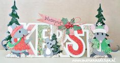 size: x assembled (size will differ based on how you assemble the mouse Marianne Design, Frantic Stamper, Christmas Cards, Christmas Ornaments, Crazy Cats, I Card, Holiday Decor, Fun, Blog