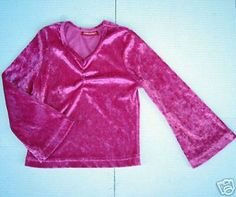 Girls LUXURIOUS Sparkle PINK Velour TOP SHIRT 4 5 Boho Bohemian Bell Sleeves FAB #Jordache #Everyday
