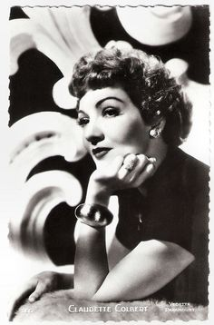 https://flic.kr/p/RwNBvQ | Claudette Colbert | French postcard by Editions P.I., Paris, no. 265. Photo: Paramount.  With her round apple-face, big eyes and charm, French-born Hollywood star Claudette Colbert (1903-1996) was the epitome of chic sophistication. Her comedies It Happened One Night (1934) - for which she won the Oscar, Midnight (1939) and The Palm Beach Story (1942) are among Hollywood's greatest ever. After more than 60 films, she returned with great success to the theatre, and…