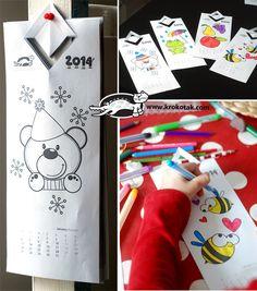 Children's Coloring Calendar 2014