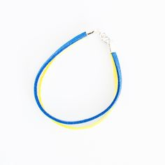 """Image of Bracelet jaune et bleu fin <br><font color=""""red"""">20% avec BRAJB16</font>"""