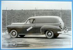 "1950 Pontiac Sedan Delivery 12 X 18"" Black & White Picture *"