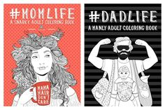 Snarky coloring books for moms and dads from Papeterie Bleu are our new zen.