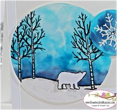 Stampin Up White Christmas, card by Sandi @ www.stampingwithsandi.com
