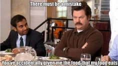 Ron Swanson on vegetables, Parks and Recreation lol Parks N Rec, Parks And Recreation, Parks And Rec Quotes, Ron Swanson Meme, Rob Swanson, Just For Laughs, Just For You, Monday Humor, I Love To Laugh