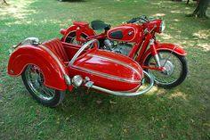 BMW SideCar Motorcycle, via Flickr.