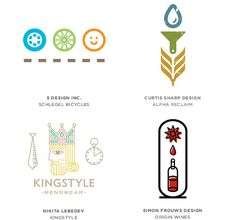 Graphic design trends 2014 according to Logo Lounge: Formula icons in Logos.