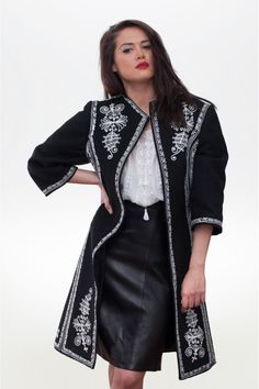 Perfect #RomanianLabelCoat  #traditionalcoat