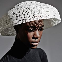 3D-printed hats launched for Ascot. I wish I could read what the words are. I suspect there's some snippets of global enlightenment which would really p*ss off the Tories and sloanes at Ascot.