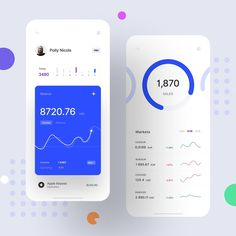 uisupply on Finance App Volume 2 - Daily UI by Bakhtiyar Sattarov for Craftwork Design . Use hashtag or tag uisupply for sharing your Dashboard Mobile, Dashboard Ui, Dashboard Design, Mobile App, Web Design, App Ui Design, Graph Design, Design Websites, Ui Design Mobile