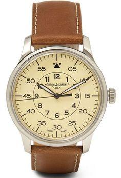 Mougin & Piquard x J. Crew Grande second stainless steel watch