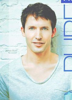 James Blunt This is a nice picture. He looks better clean shaven with short hair. ♥