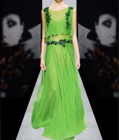 Summer Dress Chiffon Women Elegant Green Party Dresses long High Quality Clothing 6-20days Free Shipping