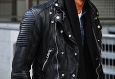 Leather jacket for him