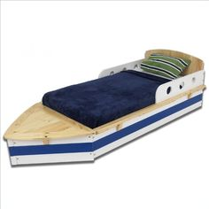 Getting a good night's sleep is smooth sailing with our Boat Toddler Cot. With its creative design and quality craftsmanship, this toddler cot will make your child's transition from a crib to a regular bed as painless as possible. Unique Toddler Beds, Toddler Cot, Boat Beds For Kids, Kid Beds, Kids Boat, Baby Beds, Baby Crib, Bedroom Themes, Kids Bedroom