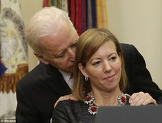 Although it was involuntarily, the new Defense Secretary's wife recently ventured to the land of the disturbing, as Vice President Joe Biden enacted another of his awkward moments.