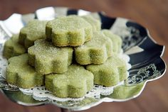 matcha green tea shortbread cookies recipe | use real butter