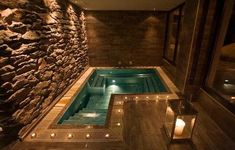 Fun Reasons To Own Luxury Swimming Pools – Pool Landscape Ideas Jacuzzi Room, Indoor Jacuzzi, Indoor Swimming Pools, Lap Pools, Backyard Pools, Pool Decks, Pool Landscaping, Home Spa Room, Spa Rooms