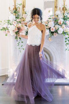 Tulle Skirt Bridesmaid, Bridesmaid Separates, Sequin Bridesmaid, Tulle Bridesmaid Dress, Lace Bridesmaids, Tulle Dress, Colored Wedding Dresses, Try On, Boho Wedding Dress