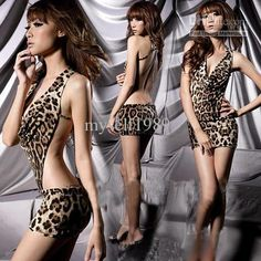 Wholesale Hot Sexy Lingerie Leopard party clubwear costume dress 06, Free shipping, $5.85-7.99/Set | DHgate