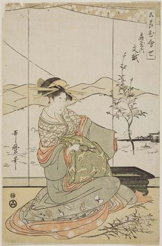 Fumikoshi of the Ôgiya, from the series Flowers for the Five Festivals (Gosetsu no hana awase), first edition Artist Kitagawa Utamaro I,