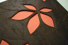 Peek-A-Book Hand-stitching Tutorial via Kinsey Wilson Craft Tutorials, Sewing Tutorials, Sewing Patterns, Sewing Hacks, Sewing Crafts, Sewing Projects, Stitching On Paper, Hand Stitching, Reverse Applique