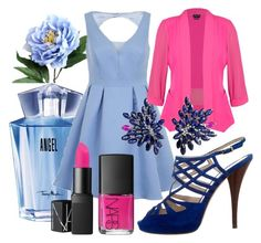 """""""Fallen Angel"""" by lullulu on Polyvore featuring Thierry Mugler, Chi Chi, City Chic, Joana Salazar and Fendi"""