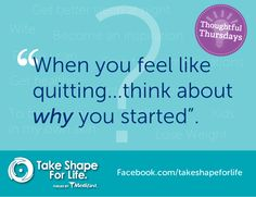 Tell us why YOU started your weight loss journey! #TSFL