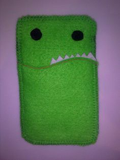 Gus the Green Monster - Felt case for iPhone / iPod / iTouch or other phone or gadget by shakra666, via Flickr