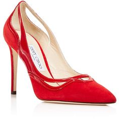 328364b53d6 Jimmy Choo Women s Hickory 100 Suede   Patent Leather Cutout High-Heel Pumps  Shoes - Bloomingdale s