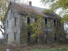 Abandoned farmhouse near Grand Pass, Missouri, by Kerri George