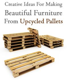 The most interesting ideas on how to make furniture out of pallets.
