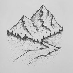 Super Drawing Doodles Nature Ideas - Drawing Kailyn Magazine - Re-Wilding Art Drawings Simple, Dots Art, Dotted Drawings, Stippling Drawing, Drawings, Nature Drawing, Epic Drawings, Art, Mountain Drawing