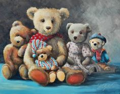Donna Gilbertson is a fantastic Australian artist who can paint just about anything! This painting of bears is called 'A Huggle of Bears'. Sold