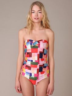 patchwork swimsuit: i can't pull this off, but i still like it.