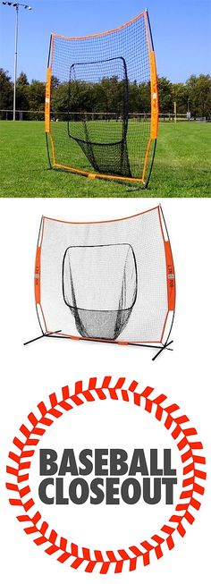 Batting Cages and Netting 50809: Bow Net Big Mouth Baseball Softball Bownet Hitting Throwing Net With Carry Bag BUY IT NOW ONLY: $159.95